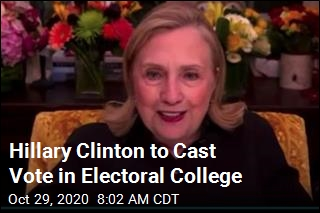Hillary Clinton to Cast Vote in Electoral College
