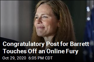 Congratulatory Post for Barrett Touches Off an Online Fury