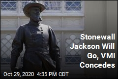 Stonewall Jackson Will Go, VMI Concedes