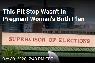 This Pit Stop Wasn't in Pregnant Woman's Birth Plan
