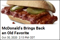 McDonald's Brings Back an Old Favorite