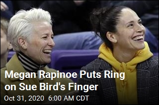 Megan Rapinoe Puts Ring on Sue Bird's Finger