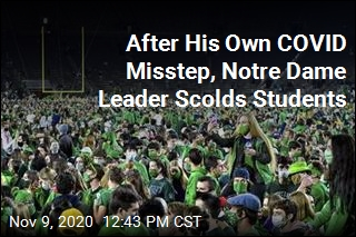 After Fans Rush Field, Notre Dame Orders COVID Tests