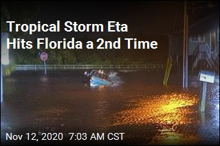 Tropical Storm Eta Hits Florida a 2nd Time