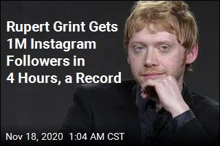 Rupert Grint Gets 1M Instagram Followers in 4 Hours, a Record