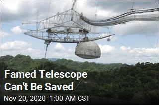 Arecibo Radio Telescope Can't Be Saved
