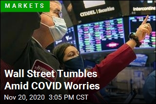 Wall Street Tumbles Amid COVID Worries