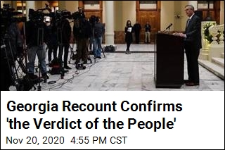 Georgia Recount Confirms 'the Verdict of the People'