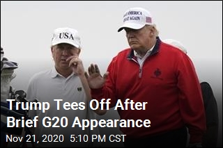 Trump Tees Off After Brief G20 Appearance