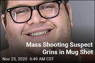 Suspect in Mass Shooting Grins in Mug Shot