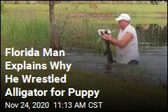 Florida Man Explains Why He Wrestled Alligator for Puppy