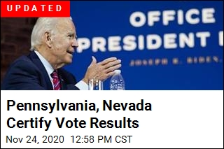 Pennsylvania Certifies Biden as the Winner