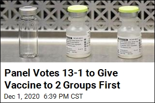 Panel Votes 13-1 to Give Vaccine to 2 Groups First