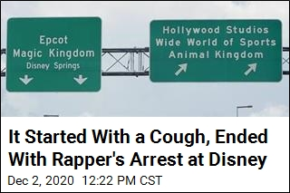 Rapper Arrested After COVID 'Joke' at Disney World Spirals