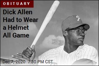 Dick Allen Had to Wear a Helmet All Game