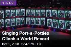 It's a World Record for ... Singing Port-a-Potties