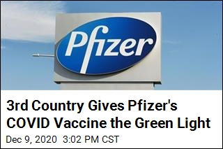 3rd Country Gives Pfizer's COVID Vaccine the Green Light