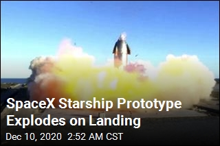 SpaceX Starship Prototype Explodes on Landing
