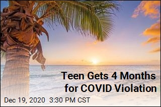 Teen Gets 4 Months for COVID Violation