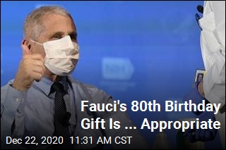 Fauci's 80th Birthday Gift Is ... Appropriate