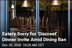 Eatery Sorry for 'Discreet' Dinner Invite Amid Dining Ban