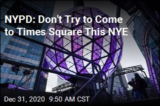 Times Square Ball Drop Is Happening, Minus Crowds