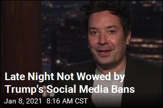 Late Night Has Fun With Trump's Social Media Bans