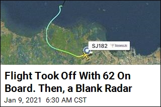 Flight Took Off With 62 On Board. Then, a Blank Radar