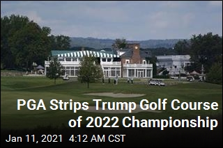 PGA Cuts Ties With Trump