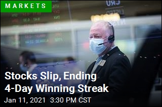 Stocks Slip, Ending 4-Day Winning Streak