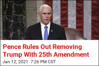 Pence Rules Out Invoking 25th Amendment