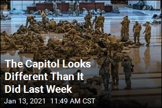 Photos Capture the Capitol Flooded With Troops