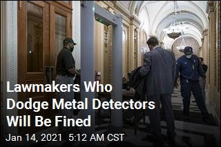 Lawmakers Will Be Fined for Evading Metal Detectors