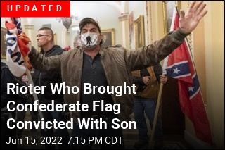 Confederate Flag Bearer Charged, With His Son