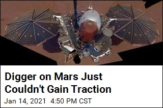 Digger on Mars Just Couldn't Gain Traction