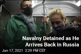 Alexei Navalny Held After Landing in Russia