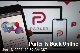 Parler Returns to the Web