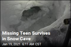 Missing Teen Survives in Snow Cave
