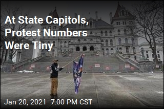 At State Capitols, Security Outnumbered Protesters