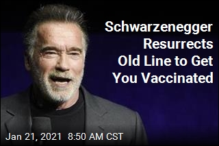 Schwarzenegger Has Perfect Response to Vaccine Jab