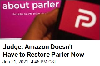 Judge: Amazon Doesn't Have to Restore Parler Now