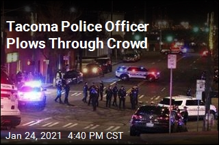 Tacoma Police Officer Plows Through Crowd