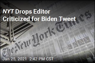 NYT Cans Editor Who Wrote of 'Chills' When Biden Landed