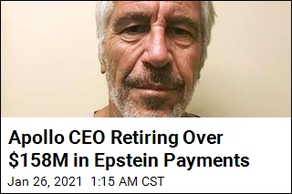 Apollo CEO Retiring Over $158M in Epstein Payments