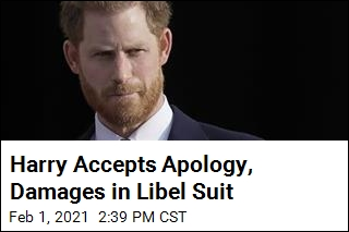 Harry Accepts Apology, Damages in Libel Suit