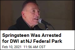 Springsteen Was Busted for Drunk Driving in November