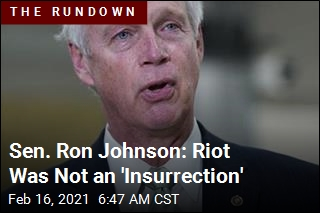 Sen. Ron Johnson: That Was No 'Armed Insurrection'