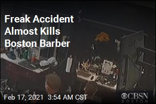 Freak Accident Almost Kills Boston Barber