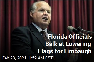 Florida Officials Reject Order to Lower Flags for Limbaugh