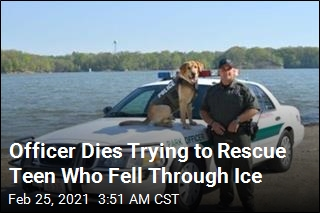 Officer Dies Trying to Save Girl From Frozen Lake